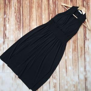 Calvin Klein Black Halter Dress Midi Pin-Up Flare